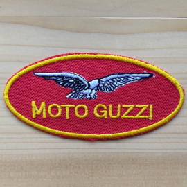OVAL PATCH - MOTO GUZZI - RED