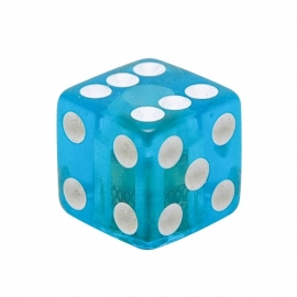 TrikTopz - Valve Caps - Clear Blue Dice