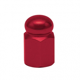 TrikTopz - Valve Caps - Red Alloy Hex Domed