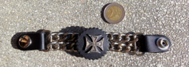 Vest Extender - Double Chain - Maltese Cross