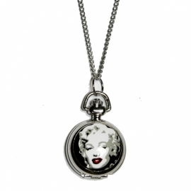 Necklace with Marilyn Monroe-clock