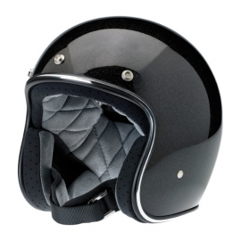 Biltwell INC - Bonanza Helmet - DOT [MINI FLAKE - Black]
