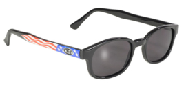 Original X-KD's - Larger Design Sunglasses - USA Flag / Stars & Stripes Frame & SMOKE Lens