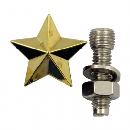 TrikTopz with License Plate Mounts - Valve Caps - Golden Stars