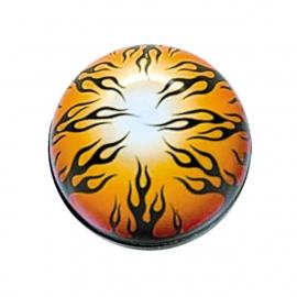 TrikTopz - Valve Caps - Black Flames