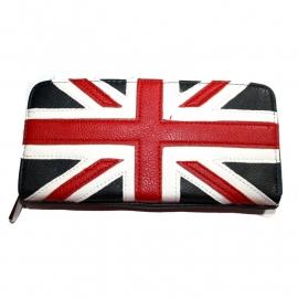 Wallet with Zipper - Union Jack Design