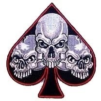 PATCH - Ace Of Spades with Triple Skull