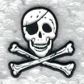 PIN - Pirate Skull - Jolly Roger - Skull with Crossed Bones and 1 eye