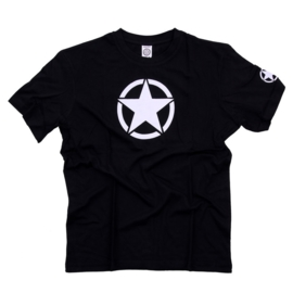 T-Shirt with White Star - Two Colours