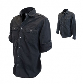 Jack Daniel's - Work Shirt - Black - Long Sleeves - XL only