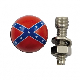 TrikTopz with License Plate Mounts - Valve Caps - Rebel Flags