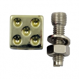 TrikTopz with License Plate Mounts - Valve Caps - Golden Dice