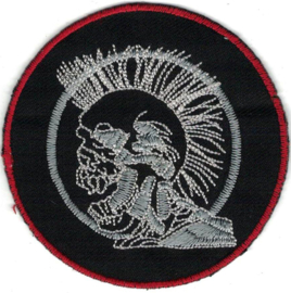 023 - PATCH -Screaming skull with Mohawk (circle)