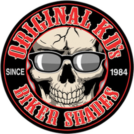 Original KD's - Round Coaster - RUBBER - SKULL with Sunglasses on  - ORIGINAL BIKER SHADES