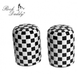 Salt and Pepper Shakers - Check / Checkered Design