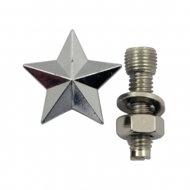 TrikTopz with License Plate Mounts - Valve Caps - Silver Stars