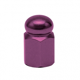 TrikTopz - Valve Caps - Purple Alloy Hex Domed