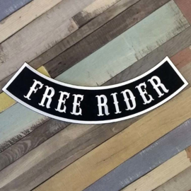 000 - BACKPATCH - Bottom Rocker - Banner - FREE RIDER