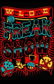 Shower Curtain / Room Divider - Welcome Freak Show