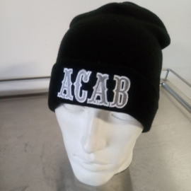 ACAB - Embroided Beanie - Black, Silver & White