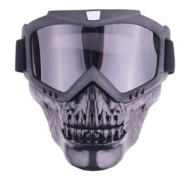 Skull Style Helmet Mask - Full Face - Smoke