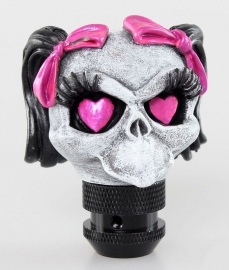 Lethal Threat - Gear Shift Knob / Shifter - Girly Skull