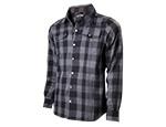 Jack Daniel's - Worker Shirt - Black & Grey  Checkered - Long Sleeves - Original Big Classic Logo on the Back