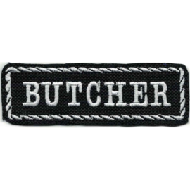 White PATCH - STICK with Rope Design - BUTCHER