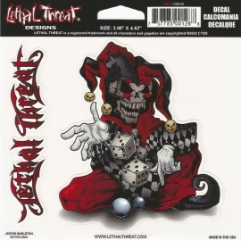 Lethal Threat - Jester Skeleton - DECAL - STICKER