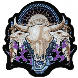 153 - small PATCH - V-Twin Engine & Bull Skull