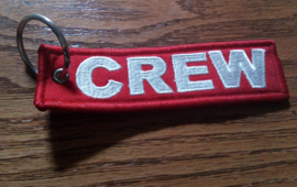 Embroided Keychain - Red & White - CREW
