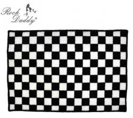 Rock Daddy - Checkered Bath Mat / Rug - Black/White