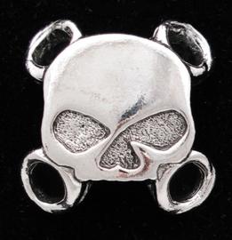 Vest / Shoe Lace Detail - Half Skull (pack of 6)