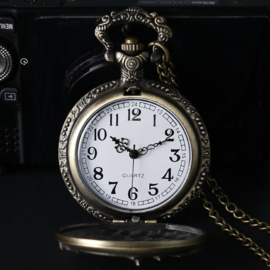 Motorcycle Steampunk Necklace with Clock
