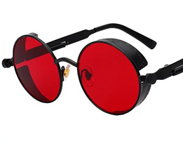 Rebel Sunglasses - Steampunk - Black & Red - 'The Devil'