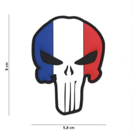 VELCRO/PVC PATCH - Punisher - French Flag - France