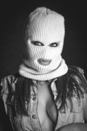 Balaclava Face Mask - 3-hole - White / Winter Edition