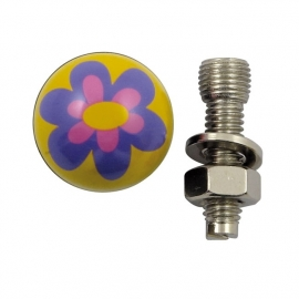TrikTopz with License Plate Mounts - Valve Caps - Purple Flowers