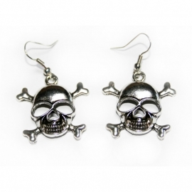 Earrings with Skulls [silver]