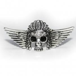 Faro Skull ring (silver-white)