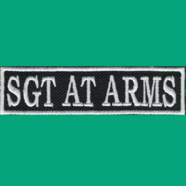 White PATCH - Flash / Stick - SGT AT ARMS - sergeant at arms