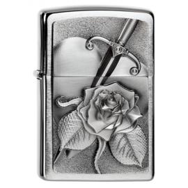 Zippo - Heart Dagger & Rose