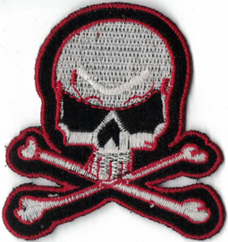 023 - PATCH - Skull with Crossed Bones - Red Lining