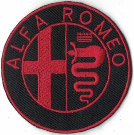 PATCH - Italian Car logo - red - ALFA ROMEO