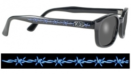 Original KD's - Tattoo Sunglasses  - TA2 Frame & Smoke Lens - Barbed Wire
