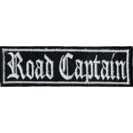 WHITE PATCH - STICK - Old English lettertype - ROAD CAPTAIN