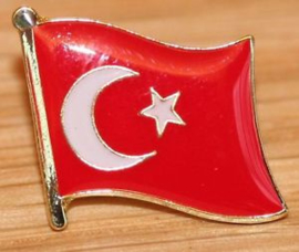 P245 - small PIN - Turkish Waving Flag - Turkey