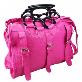 Poizen Industries - Lethal Pink Bag with Knuckle Duster Grip