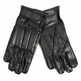 Leather Fighting Gloves - Black