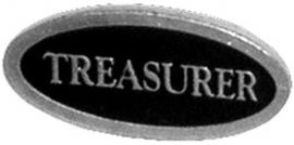 P193 - PIN - Metal Badge  - Treasurer